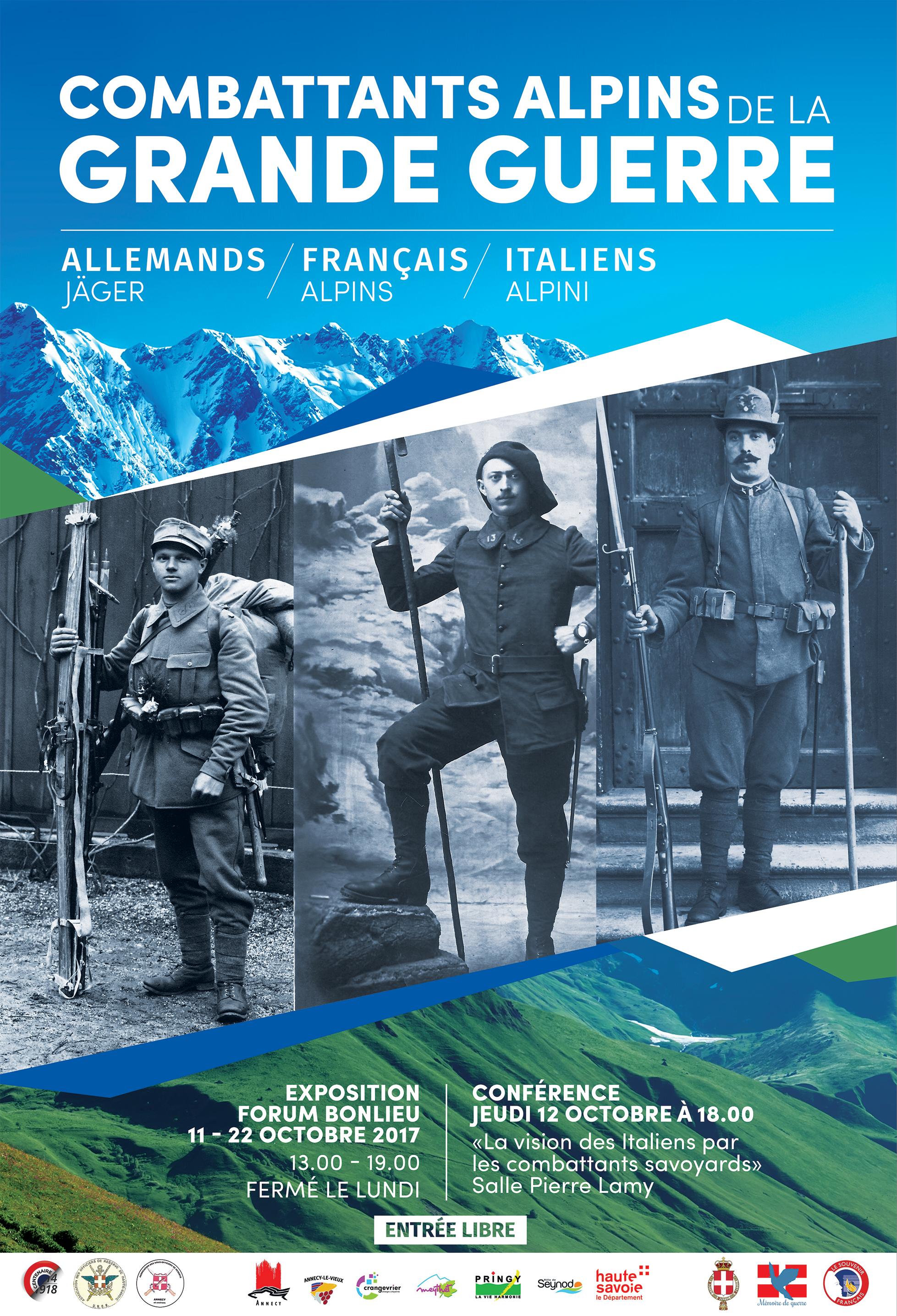 """Exposition : """" La vie quotidienne des combattants français, allemands et italiens """""""