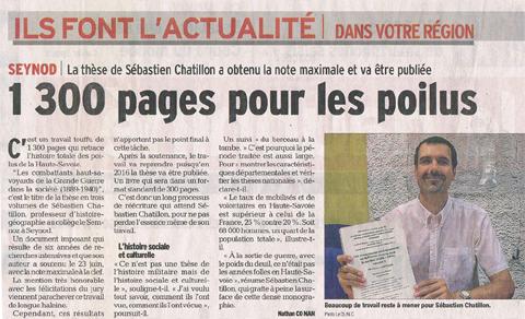 Dauphiné Libéré du 03/07/2015